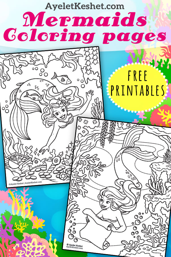 pic Free Mermaid Coloring Pages free mermaids coloring pages ayelet