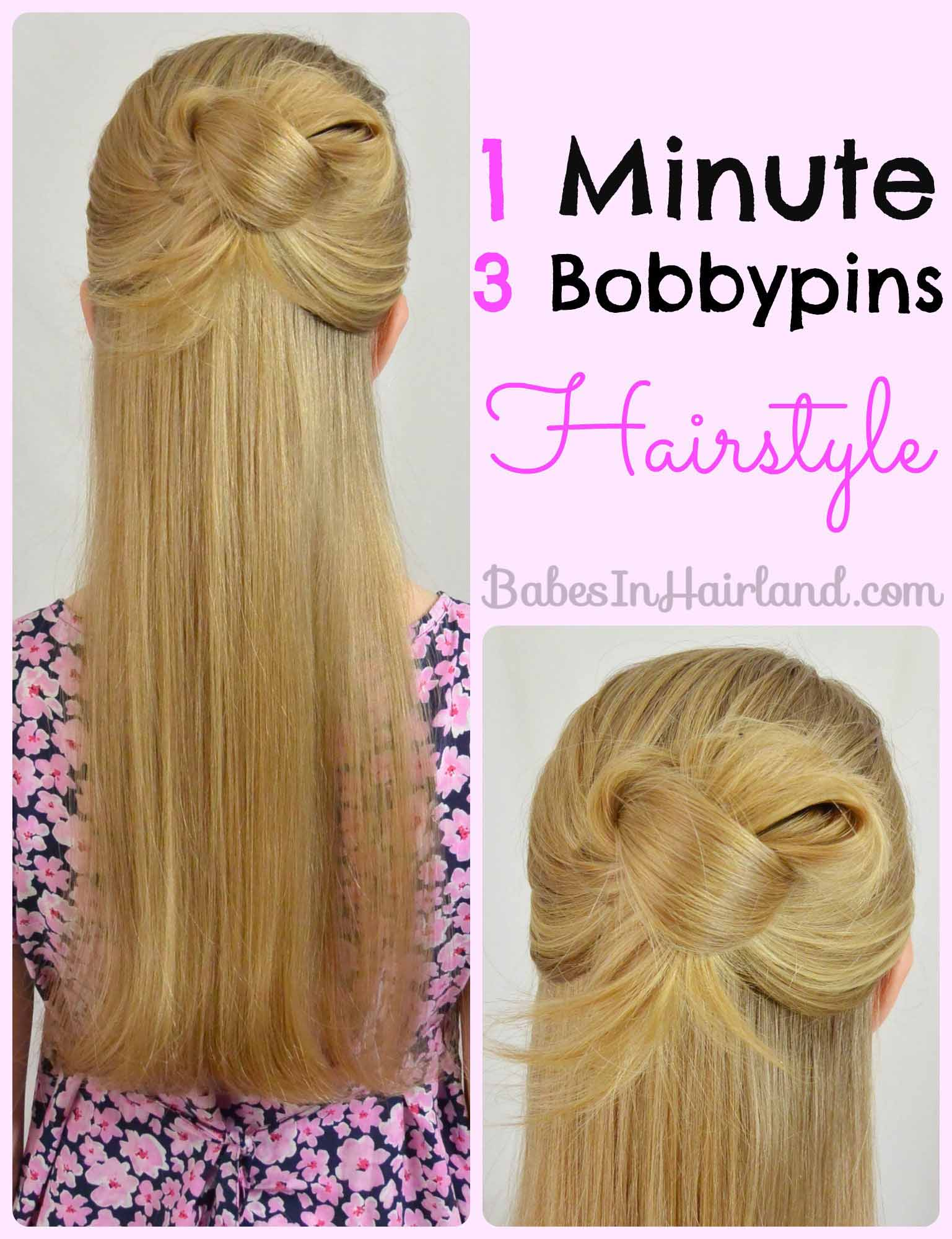 Easy 1 Minute Knotted Hairstyle Babes In Hairland