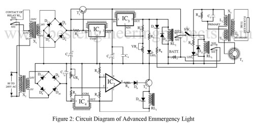 small resolution of advance emergency light circuit best engineering projects 24v alternator wiring diagram 24 volt wiring