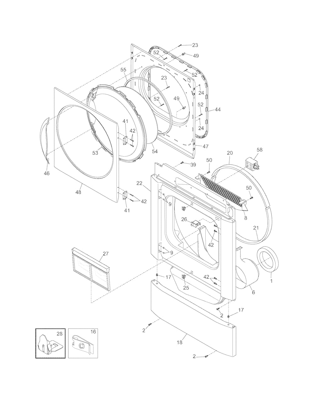 hight resolution of kenmore 80 series dryer parts diagram