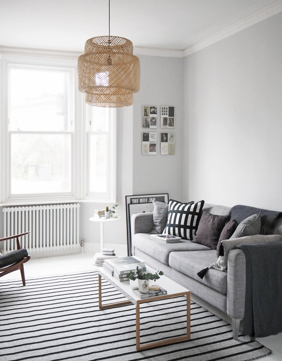 painted white floors and light grey