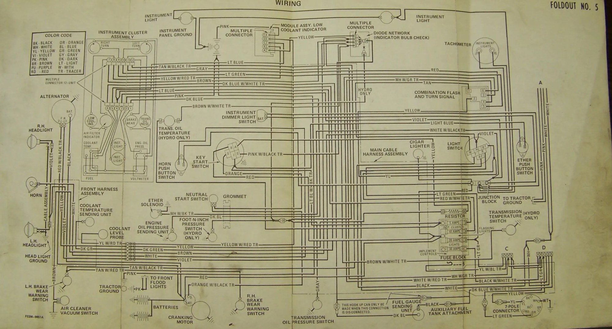 hight resolution of hight resolution of carter gruenewald co inc ih farmall tractor electrical wiring ih 706 wiring diagram