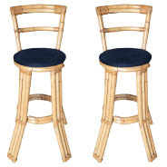 Vintage New Bamboo Bar Stools For Sale Chairish