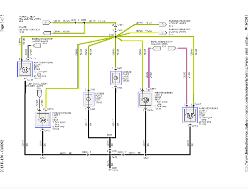 small resolution of 2013 f150 wiring diagram wiring exterior light 2013 f150 front rear exterior lights wiring harness