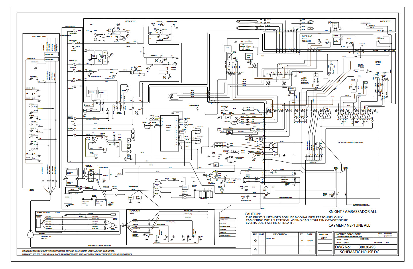 hight resolution of monaco motorhome wiring diagram
