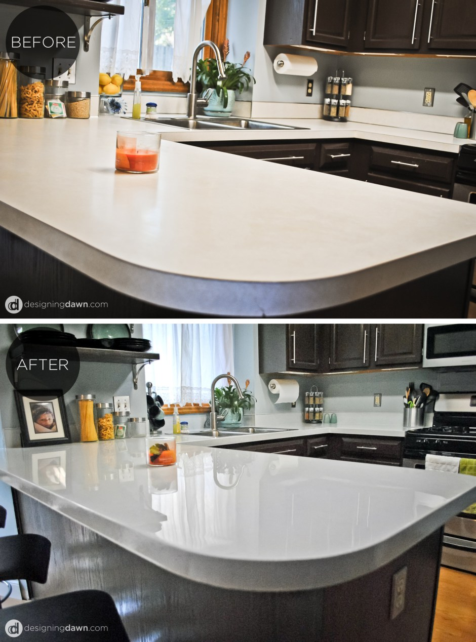 DIY Glossy Painted Counters • AD Aesthetic