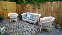 Painted Wicker Patio Furniture
