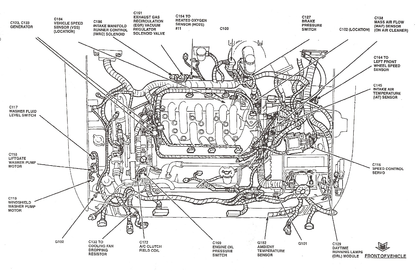 hight resolution of  2001 ford taurus engine diagram ford mustang wiper motor