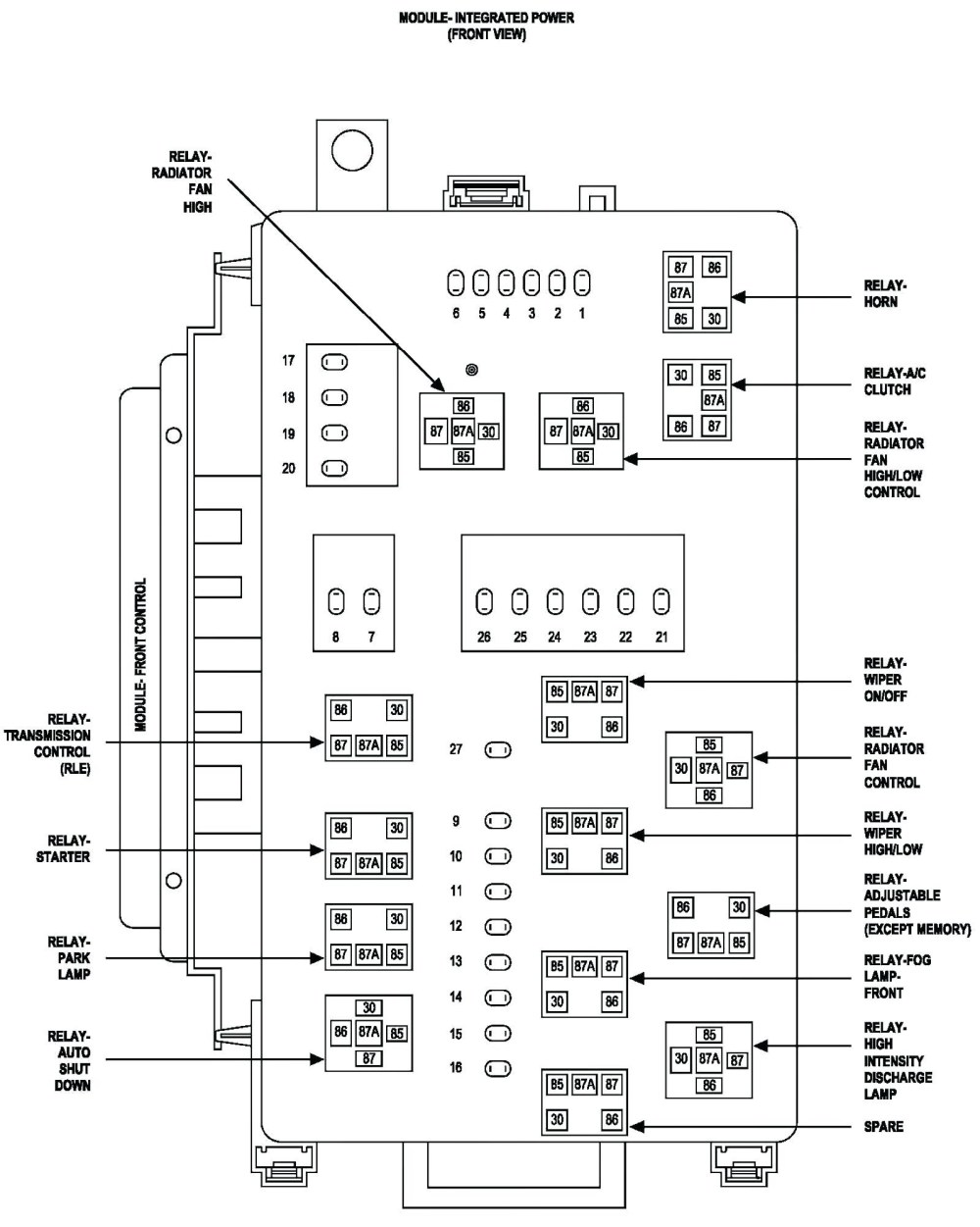 medium resolution of 1999 chrysler 300m fuse box diagram wiring diagram todays 2000 chrysler cirrus fuse  [ 1000 x 1251 Pixel ]
