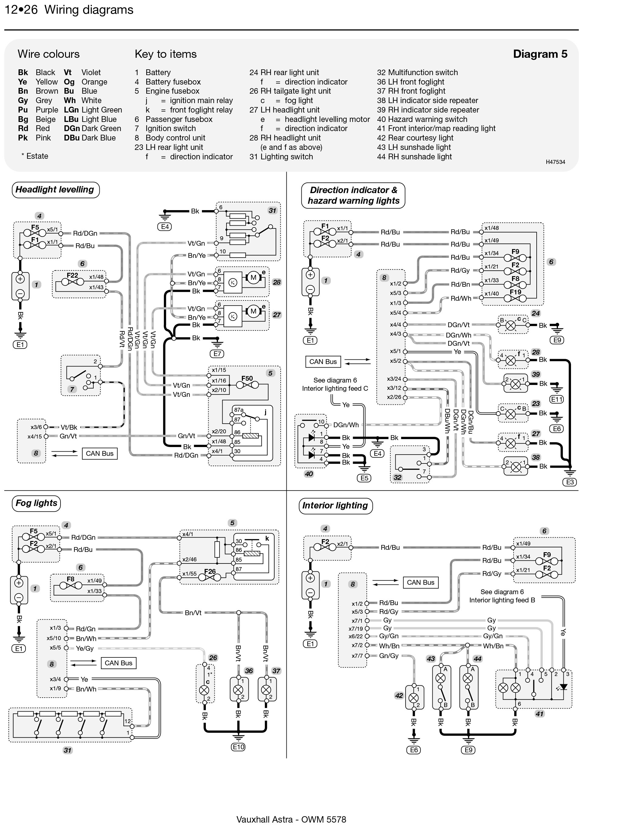 small resolution of  wrg 5324 zafira rear light wiring diagram