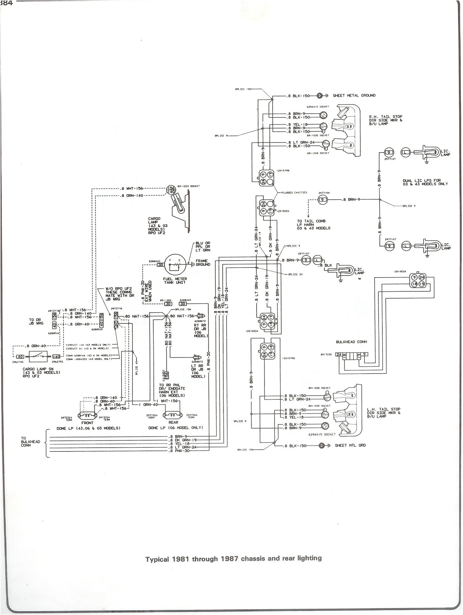1985 Chevy K10 Fuse Box Diagram