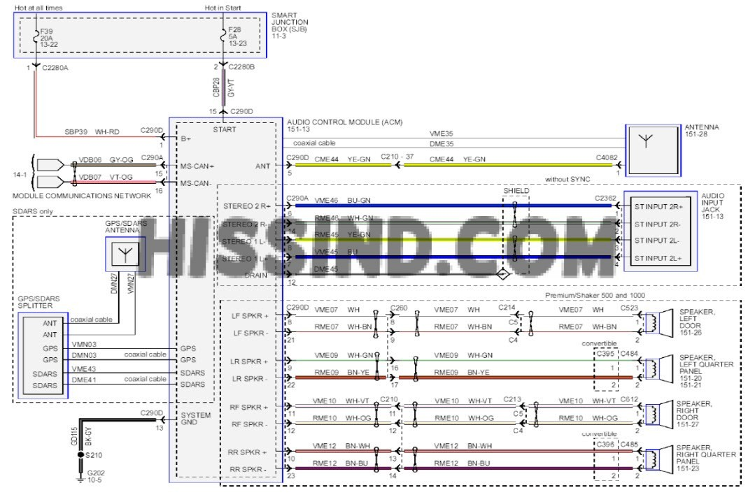 2005 Ford Mustang Gt Fuse Box Diagram 2013 Mustang Stereo Wiring Diagram
