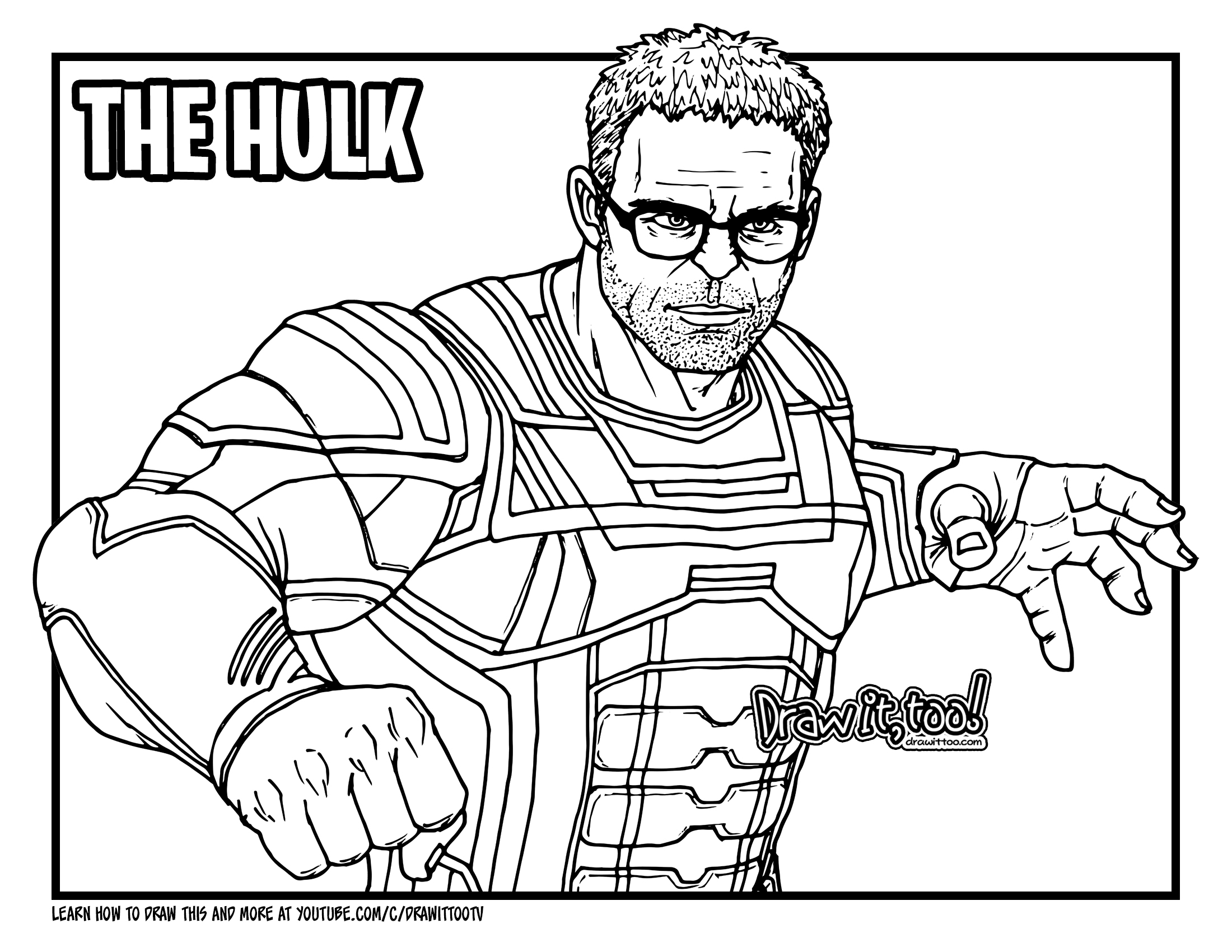 Avengers Endgame Thor Coloring Pages Total Update