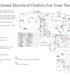 additional electrical outlets new home layout floor plan [ 2718 x 1900 Pixel ]