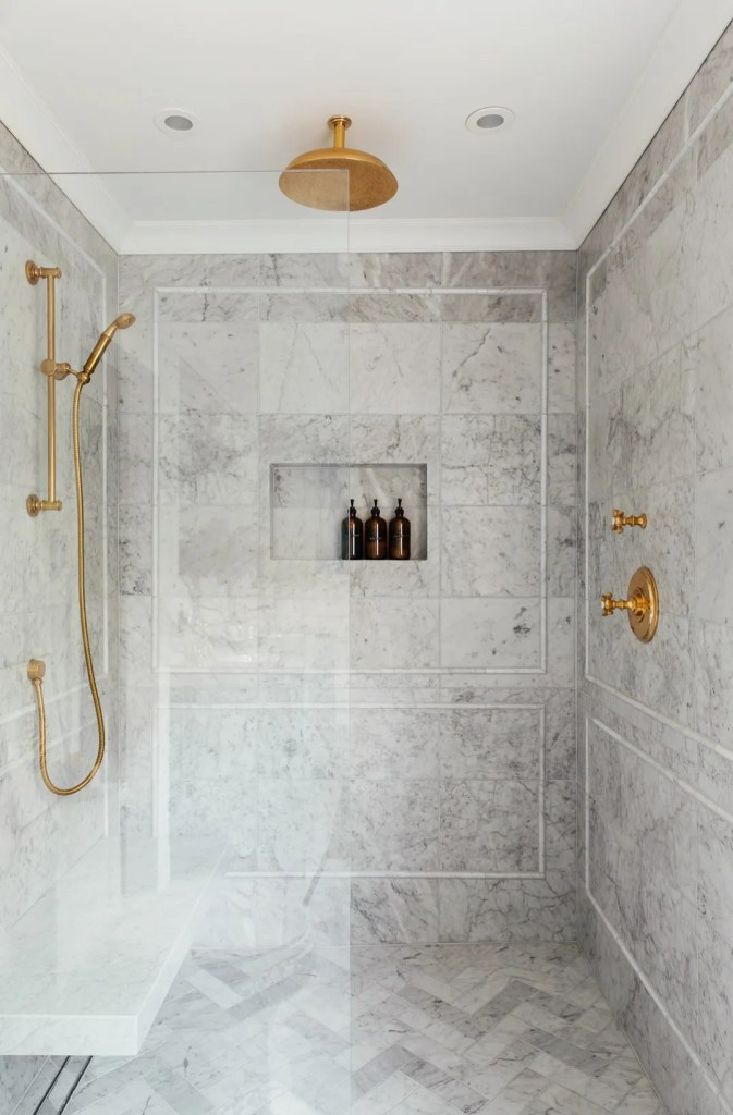 regret using marble tile in our shower