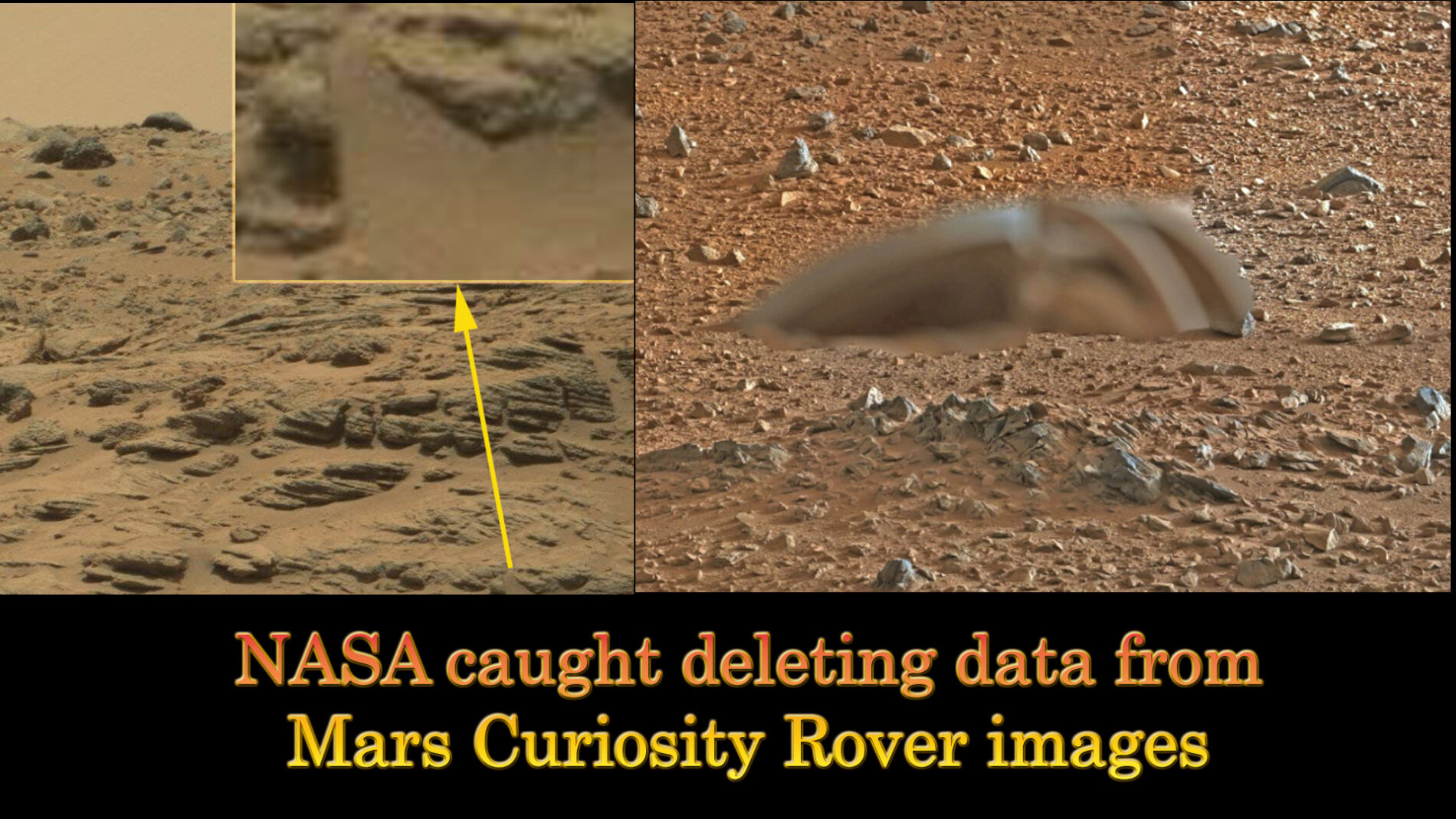 Nasa Caught Deleting Data From Mars Curiosity Rover Images