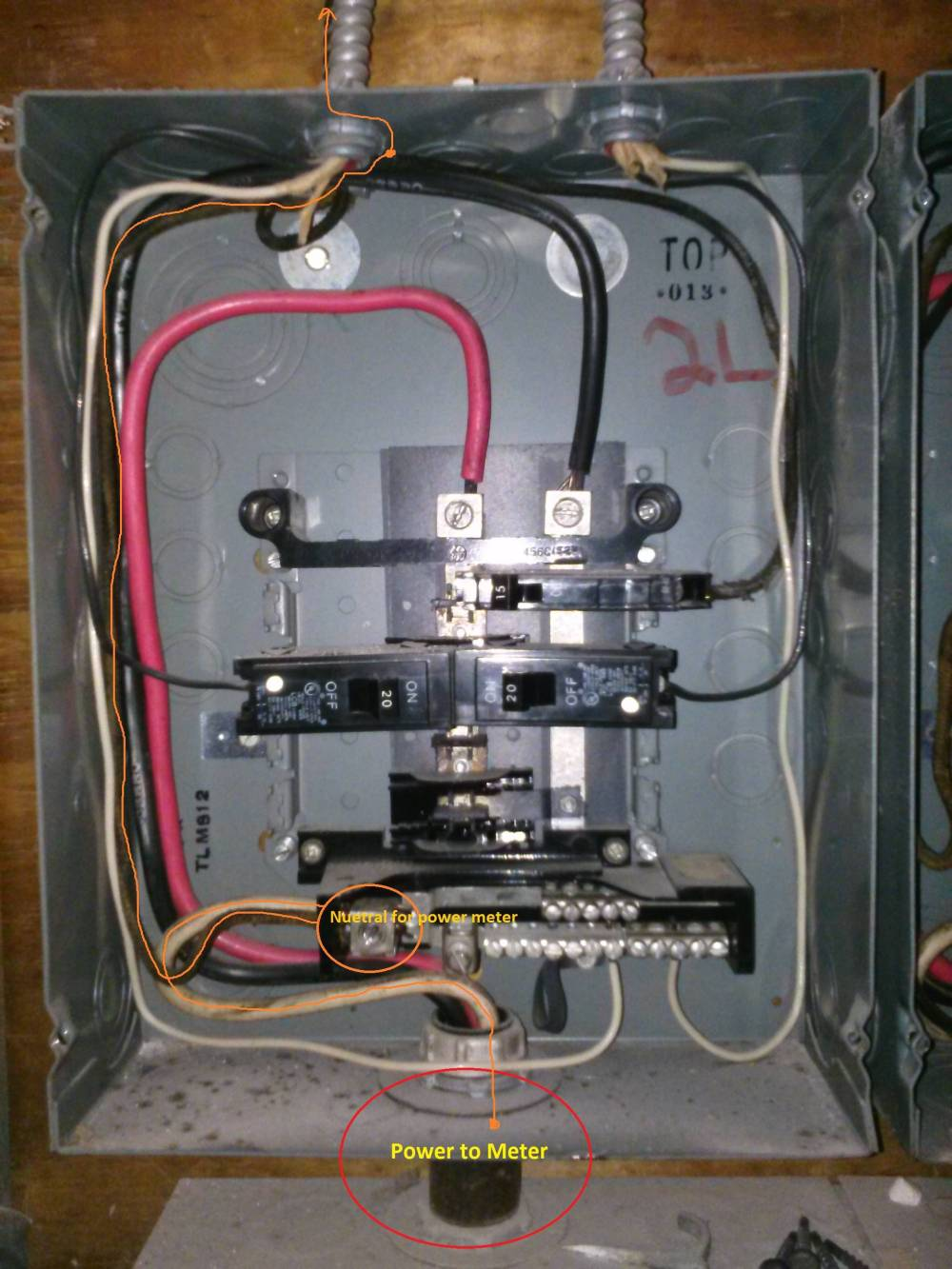 small resolution of wiring up meter box