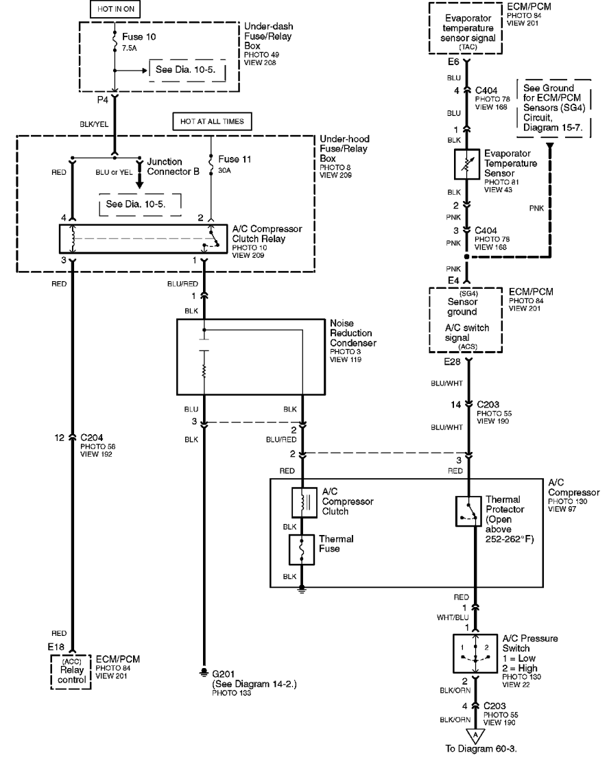 hight resolution of  ford ac compressor schematic on a c relay diagram master heater parts diagram ford 4 2 ac clutch