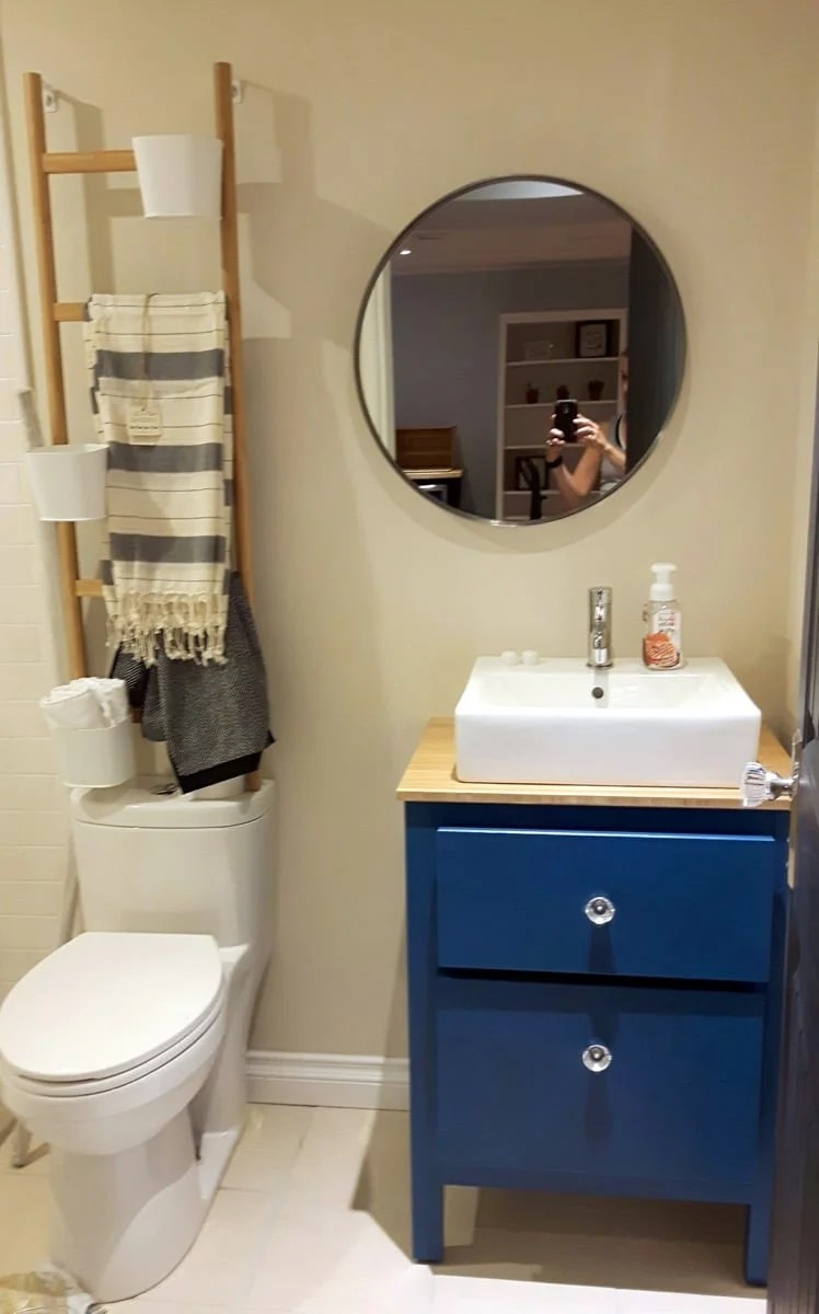 My customized HEMNES small bathroom vanity  IKEA Hackers