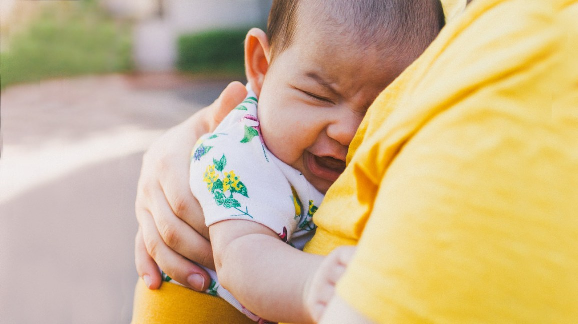 baby cries after feeding