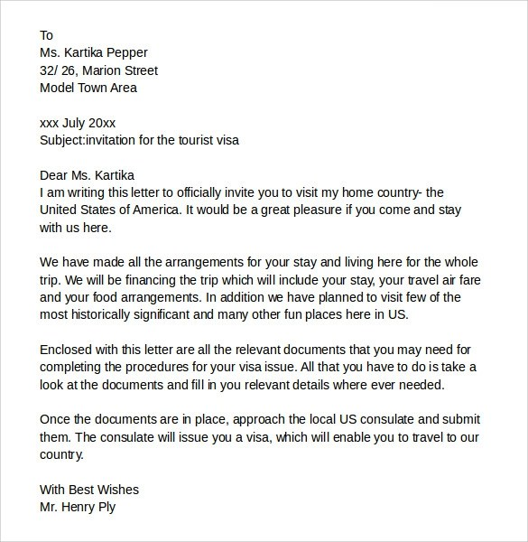 Cover Letter For Canada Visitor Visa  Andrian James Blog