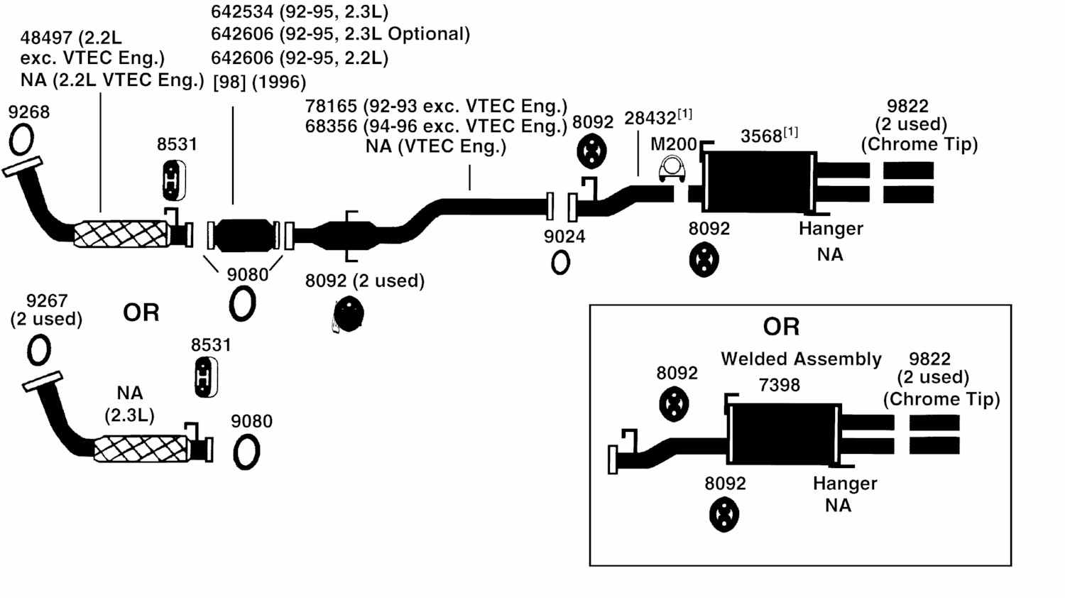 dx fuse box diagram wiring library hight resolution of honda prelude exhaust diagram from best value auto parts rh bestvalueautoparts 1995 civic  [ 1500 x 842 Pixel ]