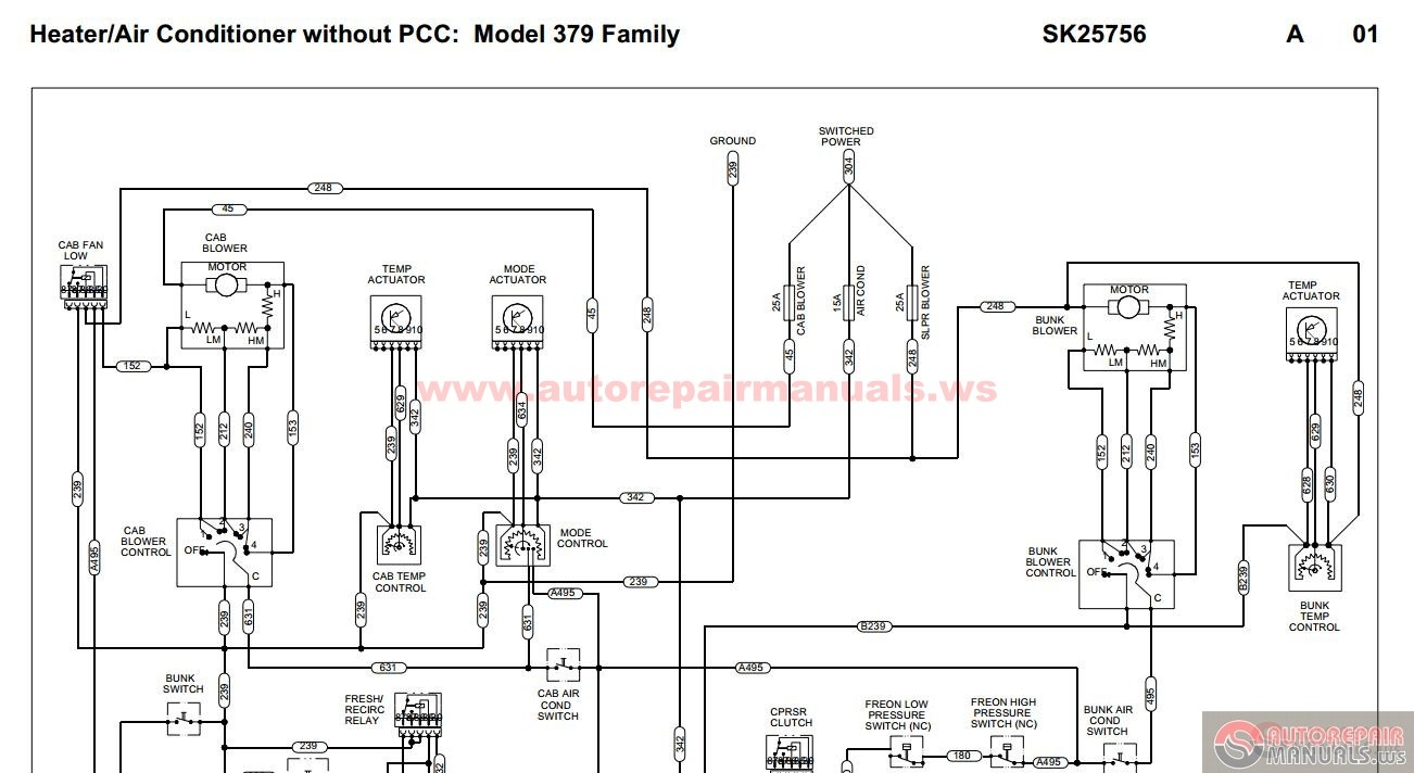 hight resolution of hight resolution of peterbilt pb379 heater air conditioner without pcc peterbilt 320 wiring diagrams peterbilt 320