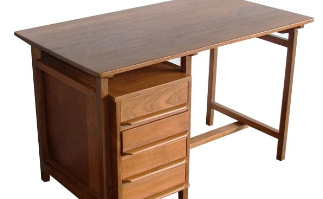 Scandinavian Writing Bureau Teak Retro Vintage Furniture