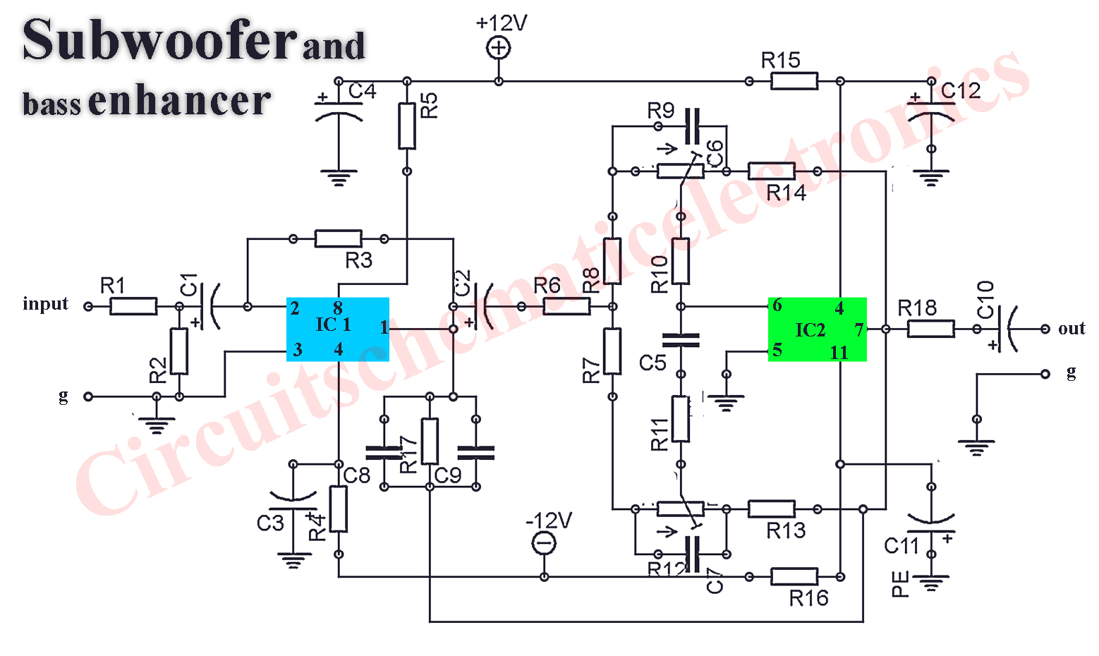hight resolution of passive subwoofer wiring diagram rockville powered subwoofer hight resolution of subwoofer preamp filter circuit schematic electronics