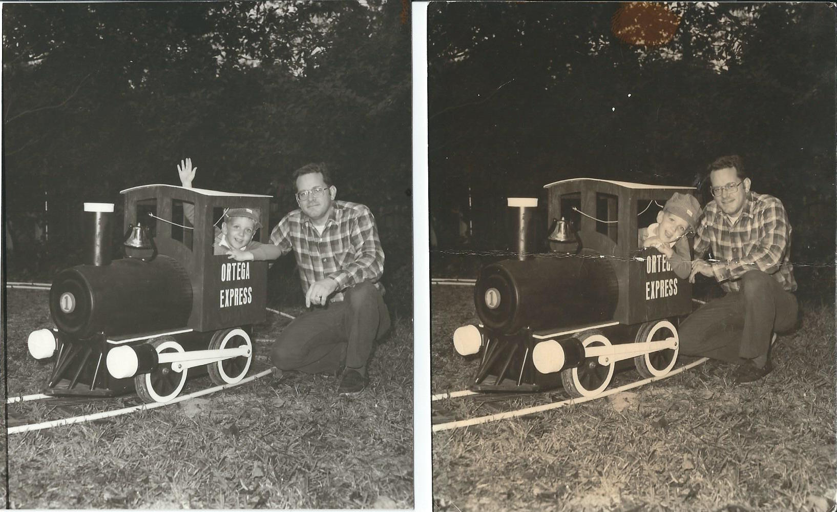 small resolution of my father and i with the train he built for me more kid cars