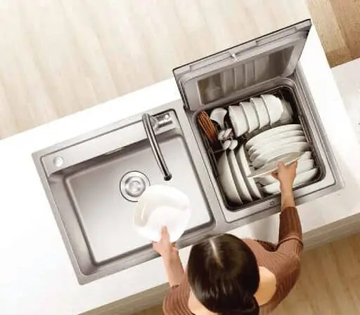 a 3 in 1 combination in sink dishwasher