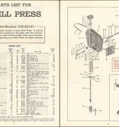 parts list and exploded diagram for craftsman 103 23141 model 100 drill press  [ 1920 x 1080 Pixel ]
