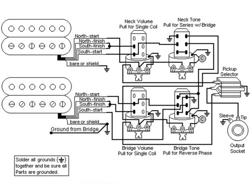 small resolution of les paul wiring diagram push pull