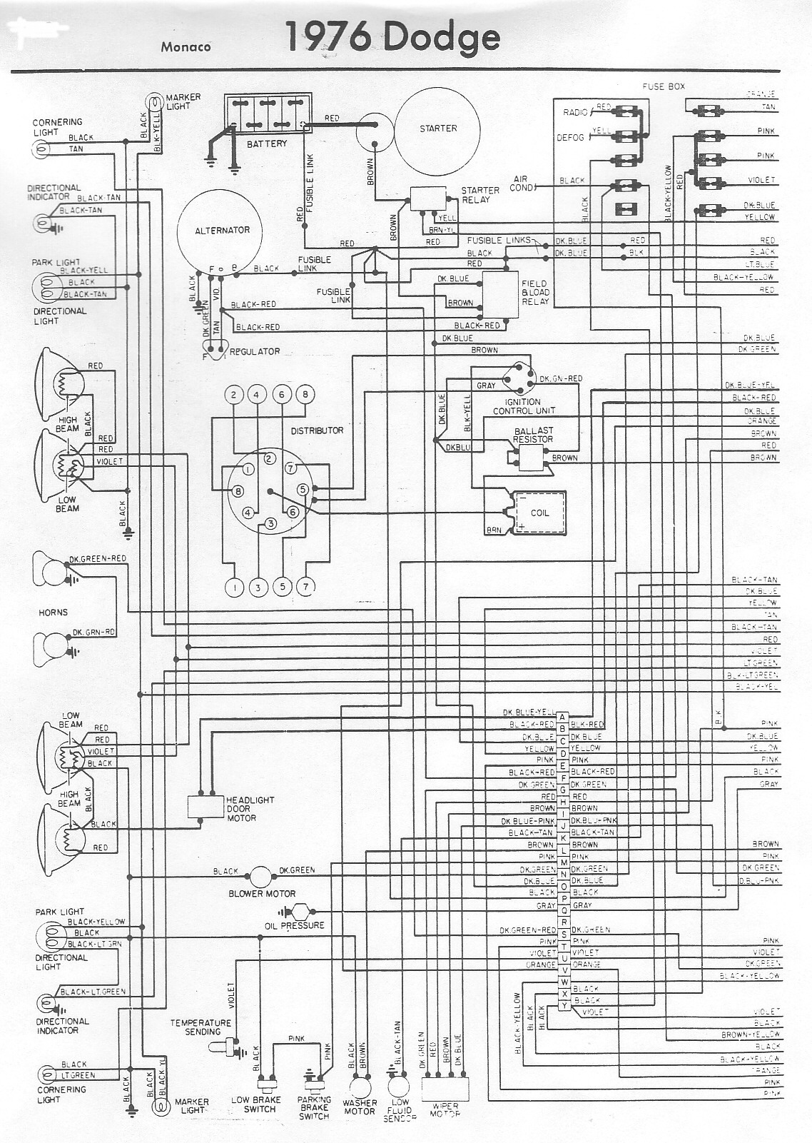 small resolution of 1976 dodge wiring diagram