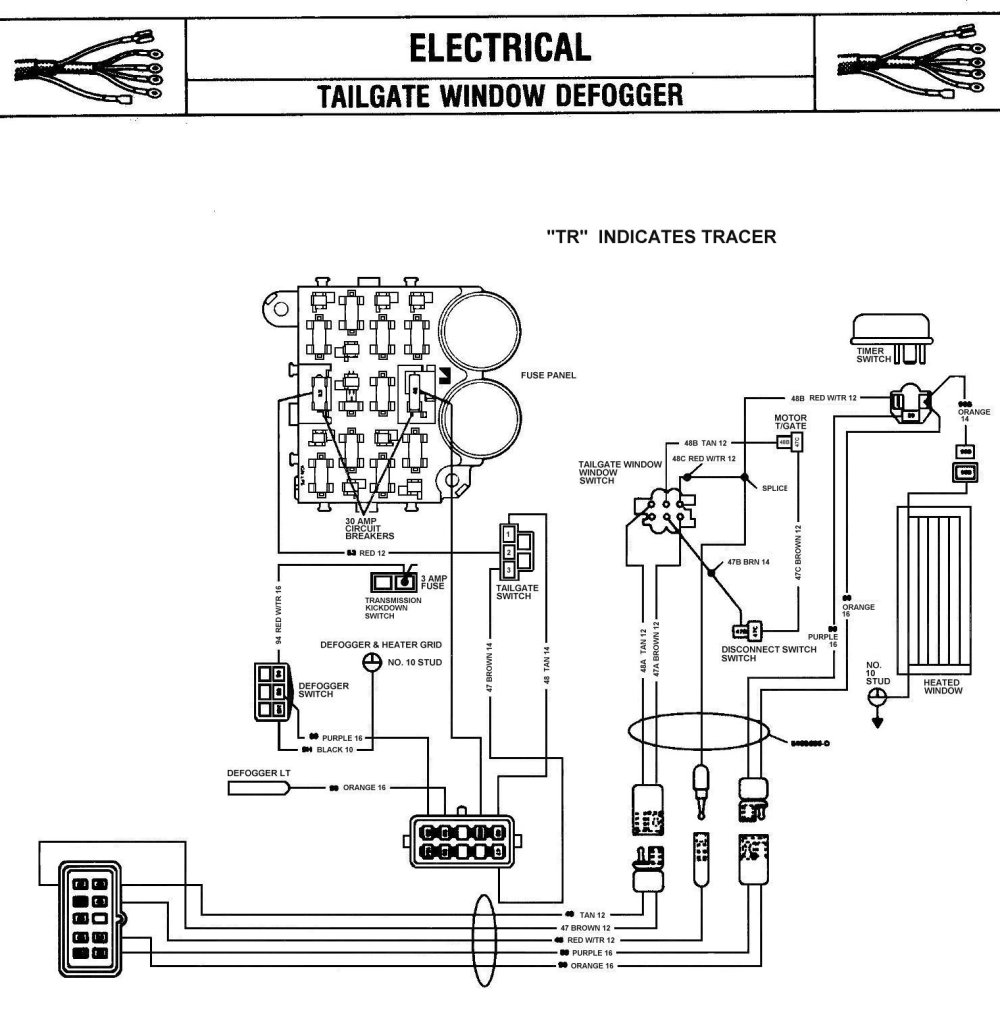 medium resolution of jeep rear defrost wiring wiring diagram operations jeep rear defrost wiring