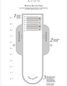 Printable shoe size chart also avon for women online beauty boss rh onlinebeautyboss