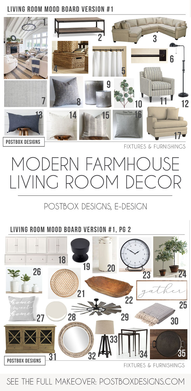 modern farmhouse living room must haves