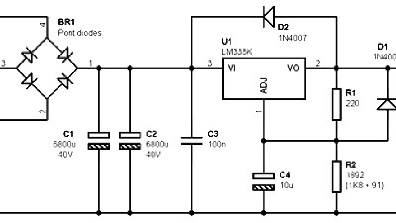 medium resolution of single output power supply 12v 5a based on lm338 power supply circuits