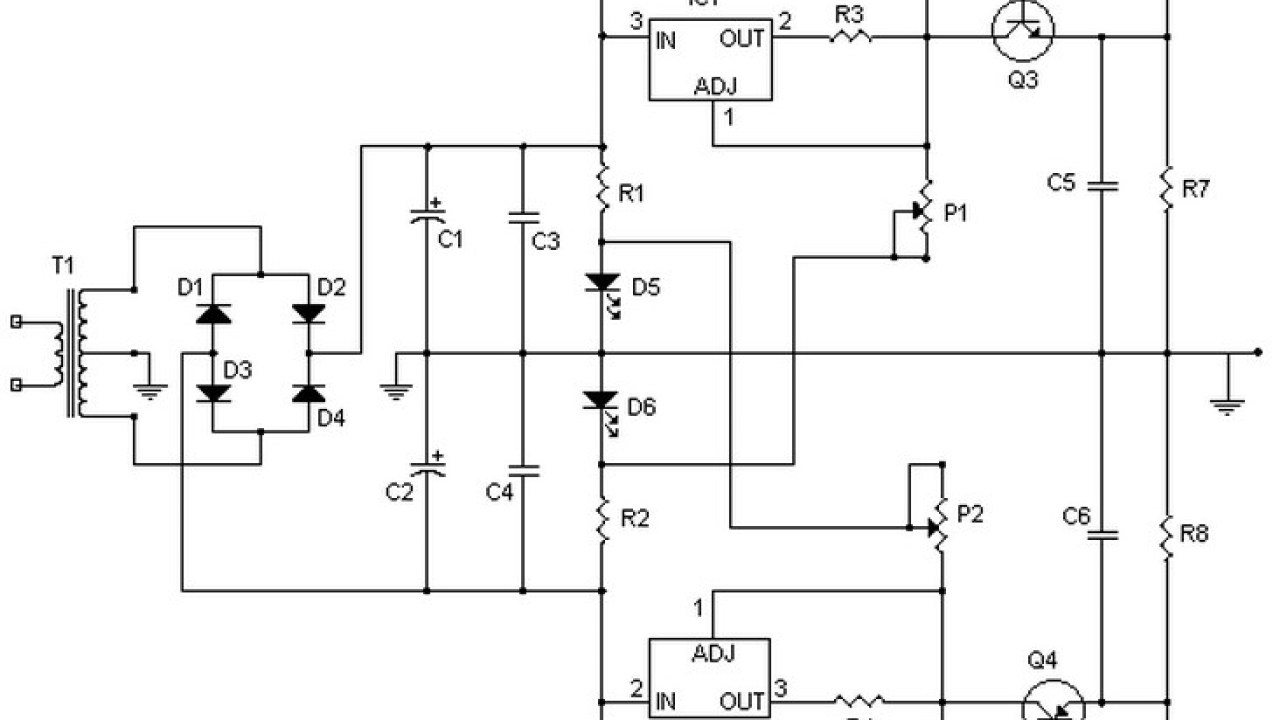 hight resolution of symmetrical regulated power supply and variable 0 to 30v 2a
