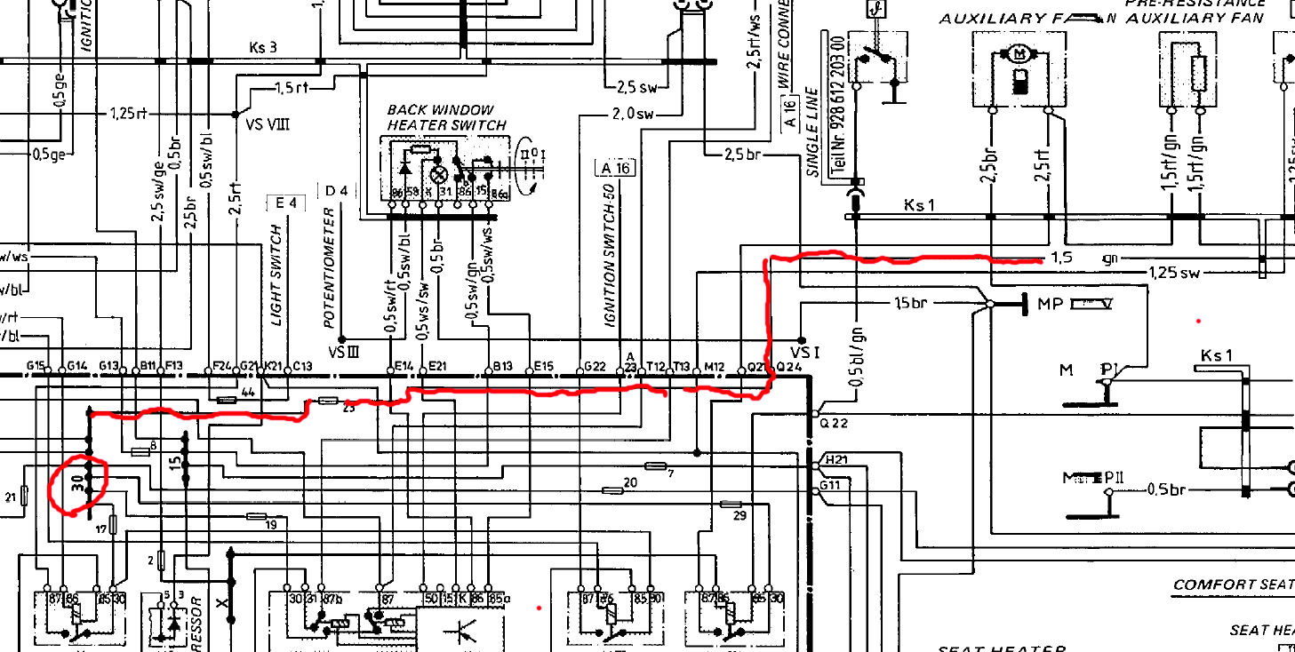 small resolution of 1986 porsche 944 headlight motor wiring diagram
