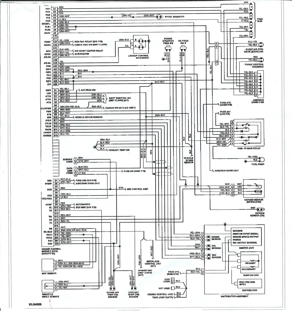 medium resolution of honda civic electrical wiring diagram and schematics