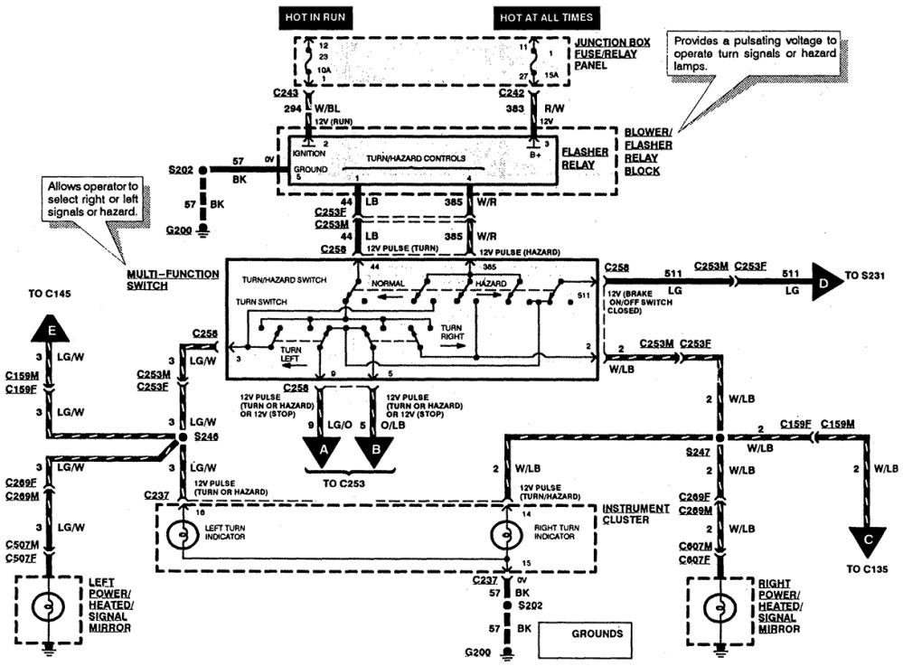 medium resolution of 2003 ford windstar turn signal wiring diagram wiring diagram 06 windstar wiring diagram source 95 windstar engine
