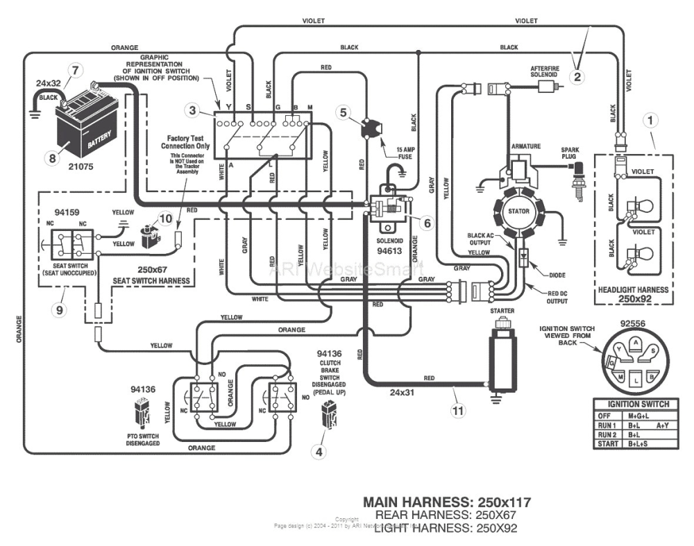 Murray Lawn Mower Wire Schematic - mower wiring diagram