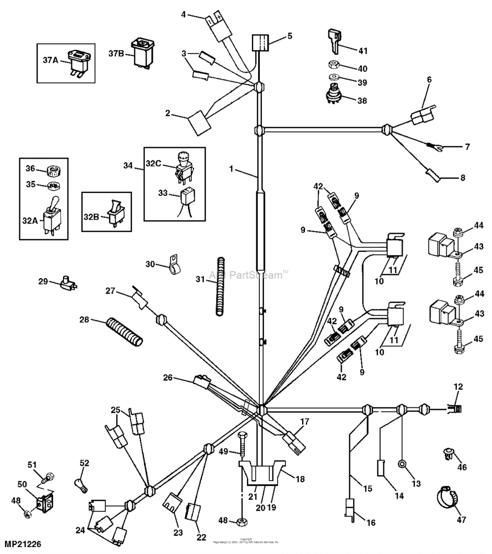 medium resolution of john deere f525 wiring diagram