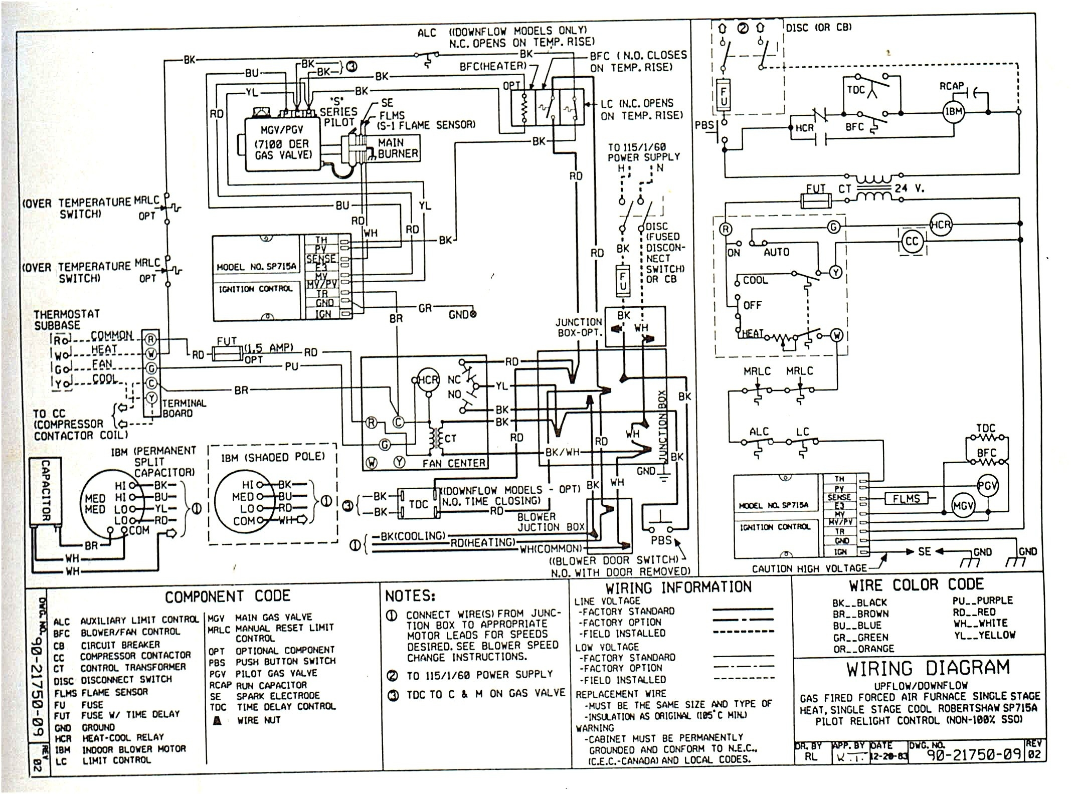 wiring diagram for 5 ton hvac