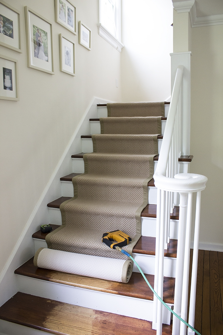 Stair Runner Diy With Sisal Rugs Direct Room For Tuesday | Best Rug For Stairs