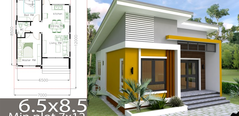 Small Home Design Plan 6 5x8 5m With 2 Bedrooms Samphoas