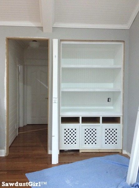 How to support extra wide builtin shelves  Sawdust Girl