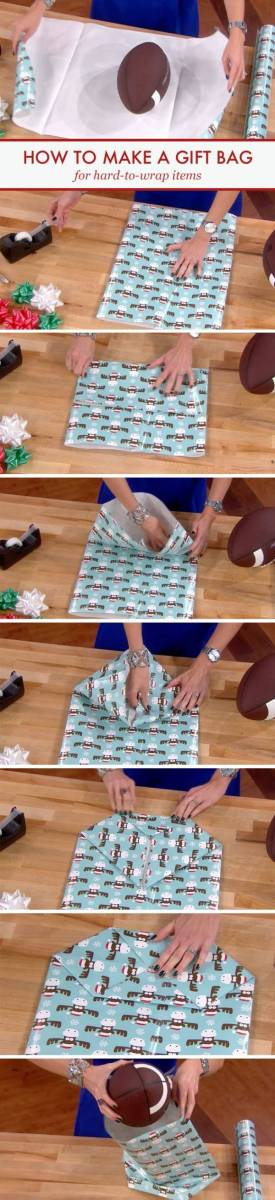 Here S How To Wrap Oddly Shaped Gifts Scrap Booking