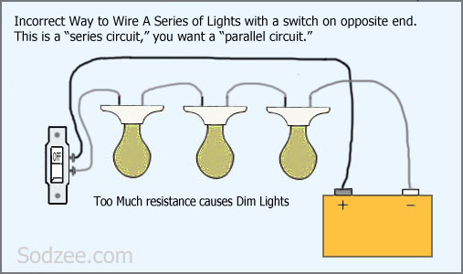 Wiring Diagram Lights In Series Wiring Lights In Parallel Wiring